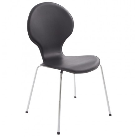 Chaise contemporaine ARROUX empilable (noir)