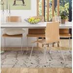 Chaise contemporaine BLAISE en bois et métal chromé (bois naturel)