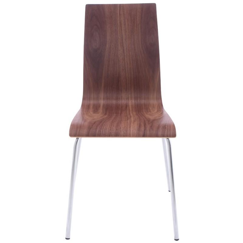 Chaise polyvalente OUST en bois et métal chromé (noyer) - image 16868
