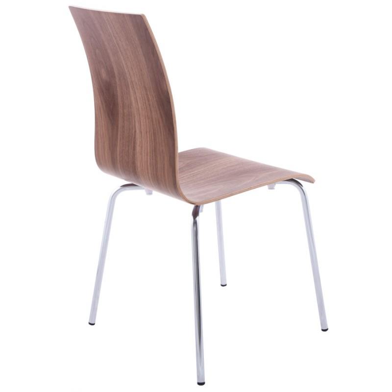 Chaise polyvalente OUST en bois et métal chromé (noyer) - image 16870