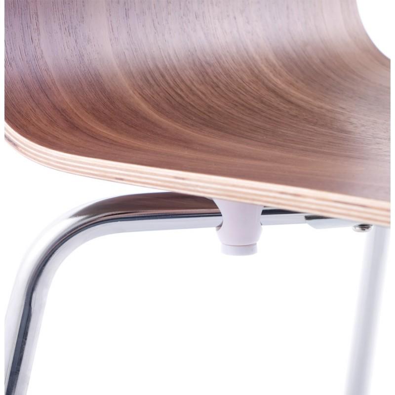 Chaise polyvalente OUST en bois et métal chromé (noyer) - image 16871