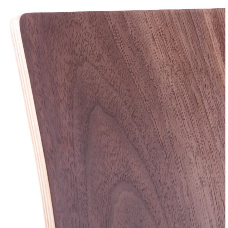 Chaise polyvalente OUST en bois et métal chromé (noyer) - image 16874