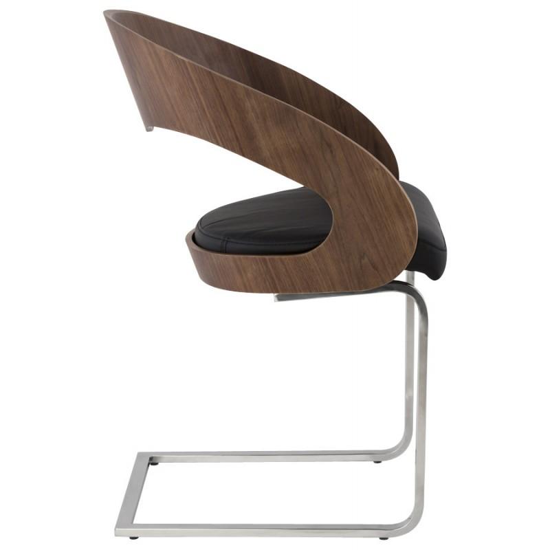 Chaise contemporaine LOING (noyer et noir) - image 16903