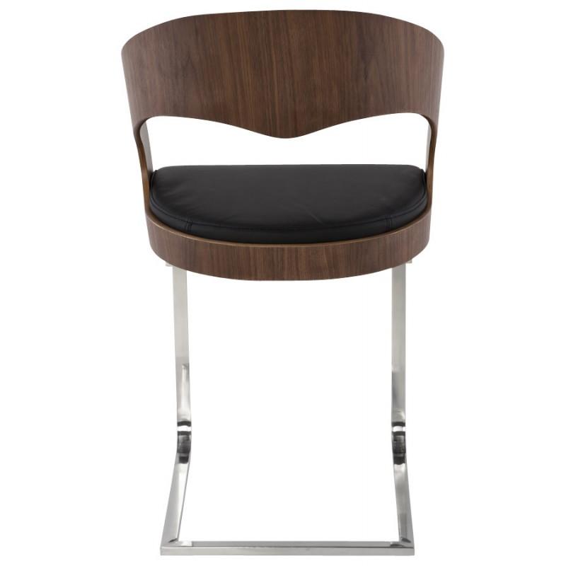 Chaise contemporaine LOING (noyer et noir) - image 16905