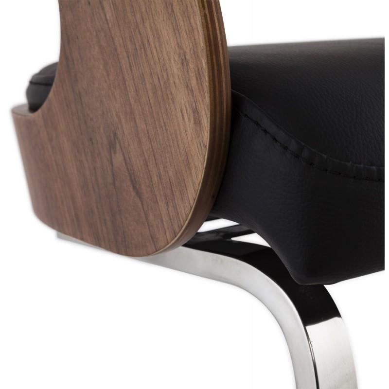 Chaise contemporaine LOING (noyer et noir) - image 16906