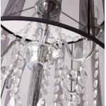 MERION design floor chrome steel lamp (black)