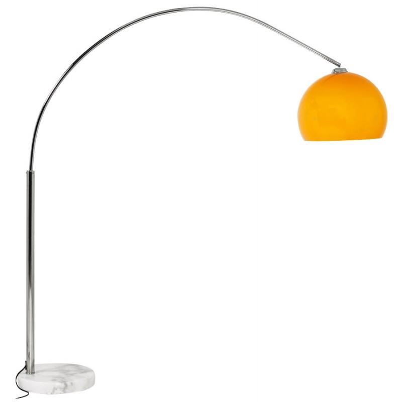 Lampe sur pied design MOEROL SMALL en acier chromé (moyenne et orange) - image 16953