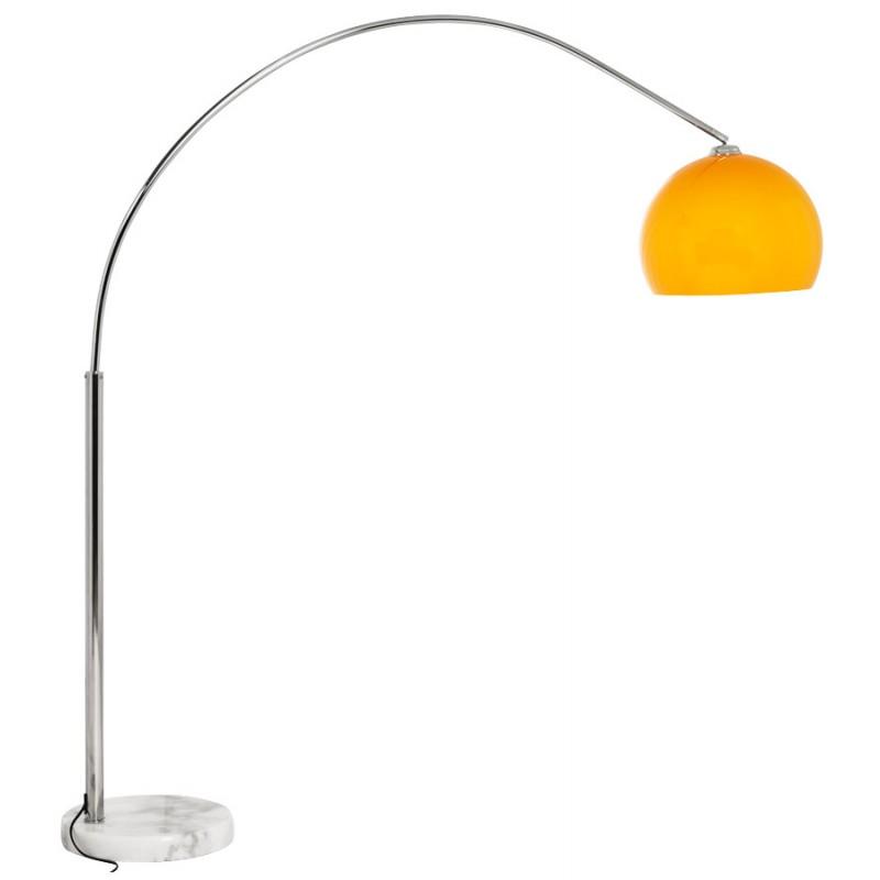 Lampe sur pied design MOEROL SMALL en acier chromé (moyenne et orange) - image 16954