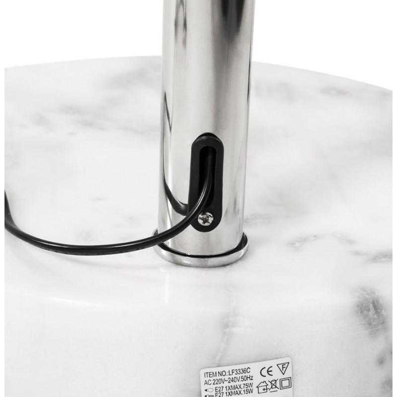 Lampe sur pied design MOEROL SMALL en acier chromé (moyenne et blanche) - image 16976