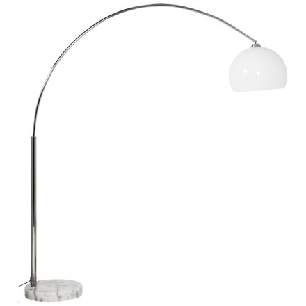 MOEROL XL design floor chrome steel lamp (large and white)