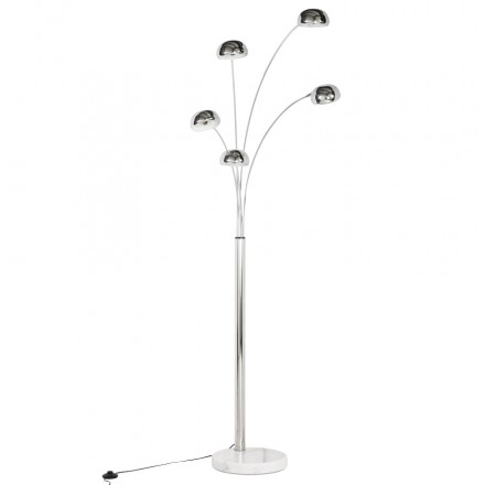 ROLLIER design floor lamp 5 shades chrome steel (chrome)
