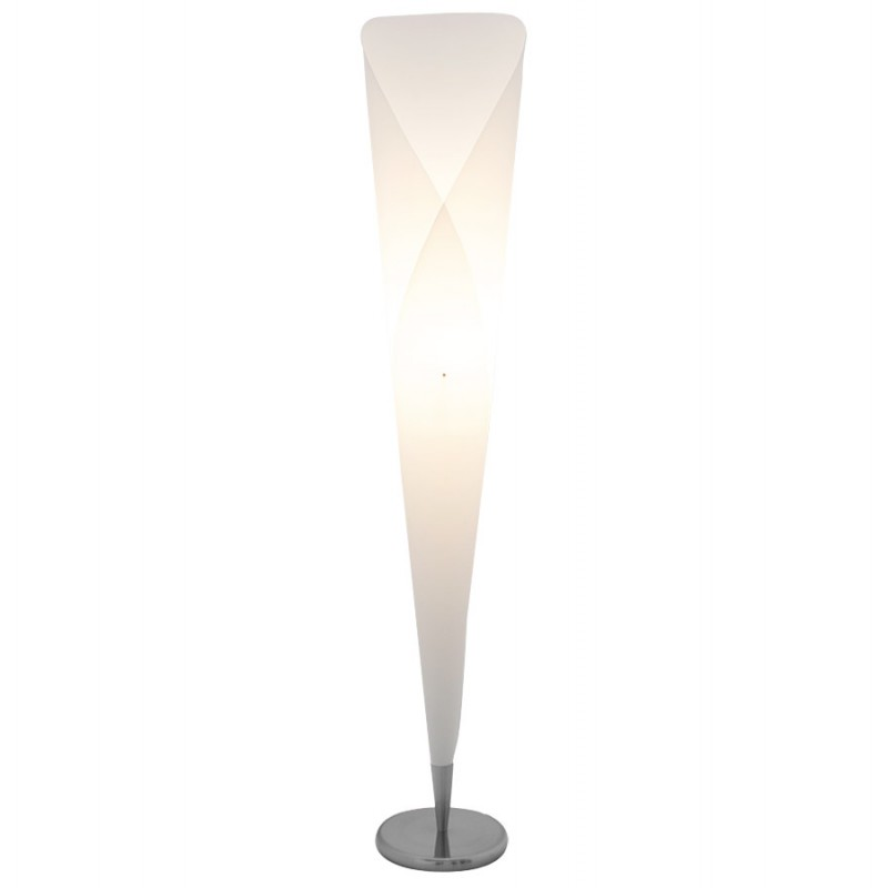 Lampe sur pied design STERNE en acier brossé (blanc) - image 17046