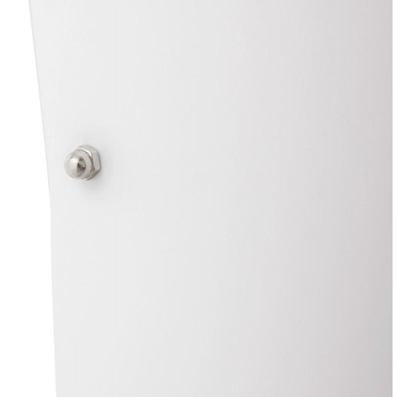 Lampe sur pied design STERNE en acier brossé (blanc) - image 17049