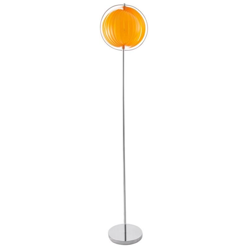 Lampe sur pied design BARBICAN BIG en acier chromé (orange) - image 17058