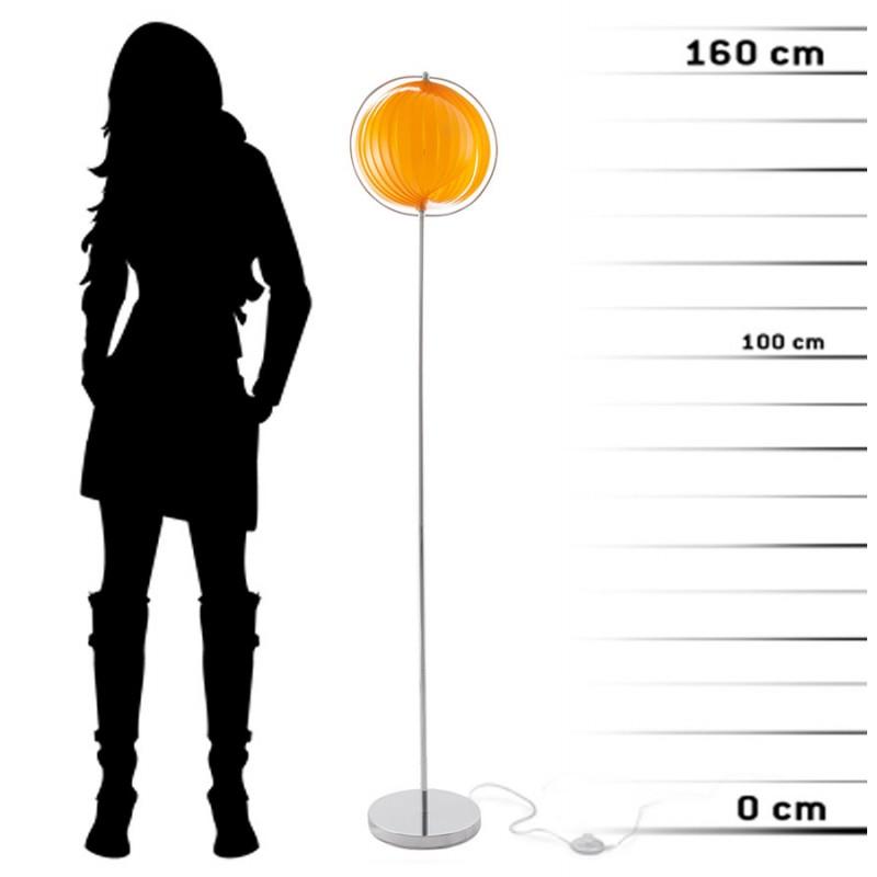 Lampe sur pied design BARBICAN BIG en acier chromé (orange) - image 17067