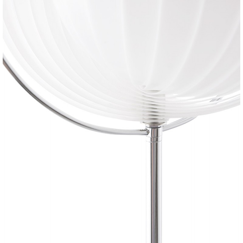 Lampe sur pied design barbican big en acier chrom blanc for Lampe a pied design