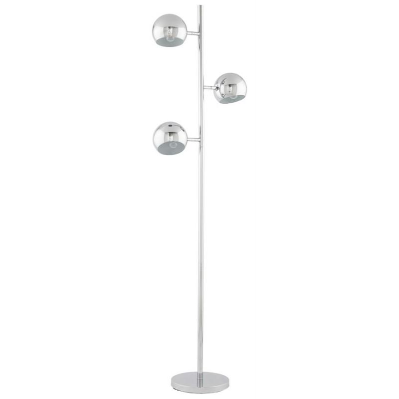 Design floor lamp 3 shades TANGARA in chromed steel (chrome)