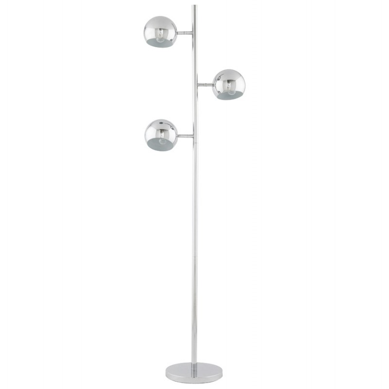 Lampe sur pied design 3 abat-jours TANGARA en acier chromé (chromé) - image 17080