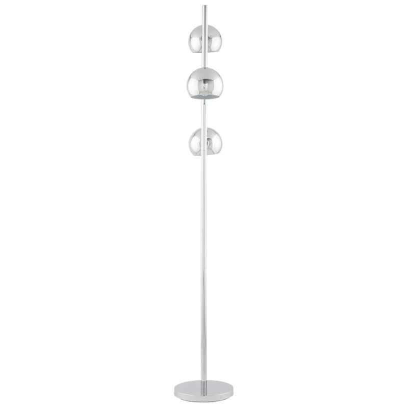 Lampe sur pied design 3 abat-jours TANGARA en acier chromé (chromé) - image 17081