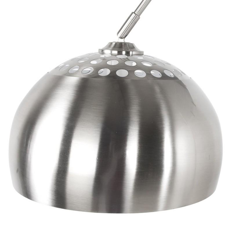 Lampe sur pied design WILSON en acier brossé (acier brossé) - image 17090