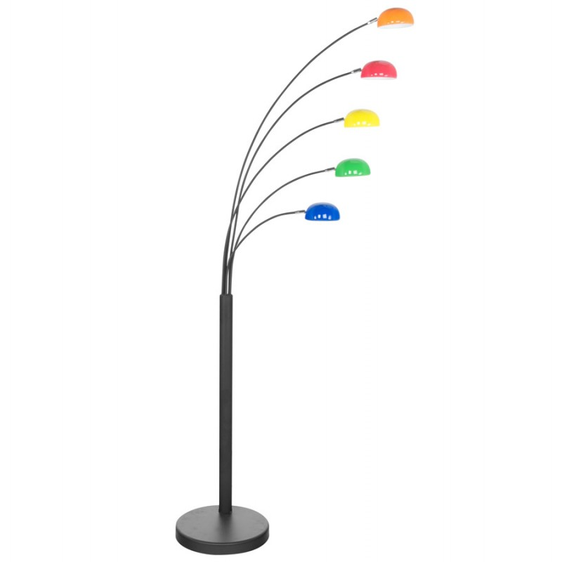 ROLLIER design floor lamp 5 shades ROLLIER painted metal (multi-coloured) - image 17113