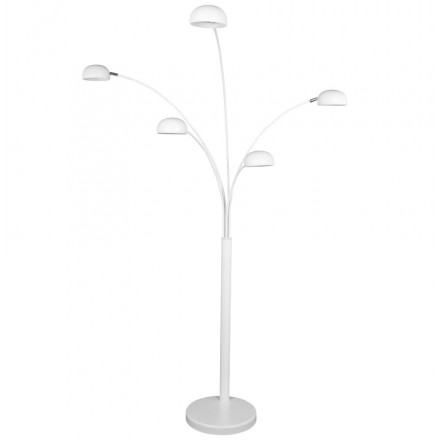 ROLLIER design floor lamp 5 shades painted metal (white)