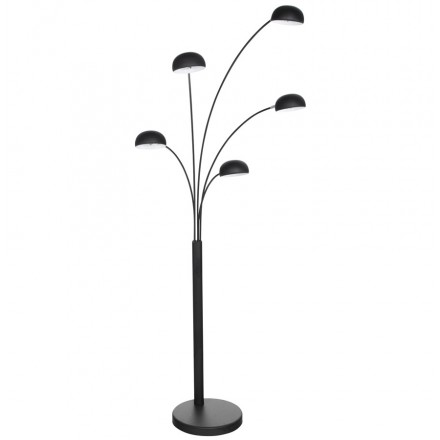 Design floor lamp 5 shades ROLLIER painted metal (black)