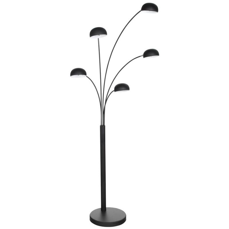 Lampe sur pied design 5 abat-jours ROLLIER en métal peint (noir) - image 17126