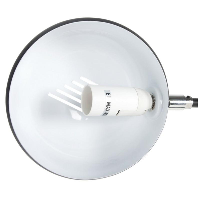 Lampe sur pied design 5 abat-jours ROLLIER en métal peint (noir) - image 17129