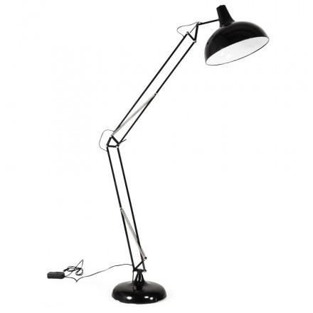 Lampe sur pied design ROLLIER en métal (noir)