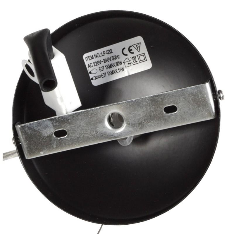 Lampe à suspension design PAON en métal (noir) - image 17172