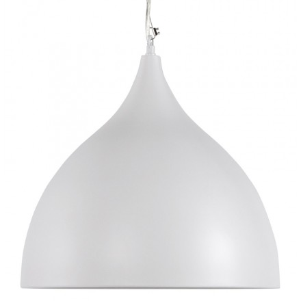 Lampe à suspension design PAON en métal (blanc)