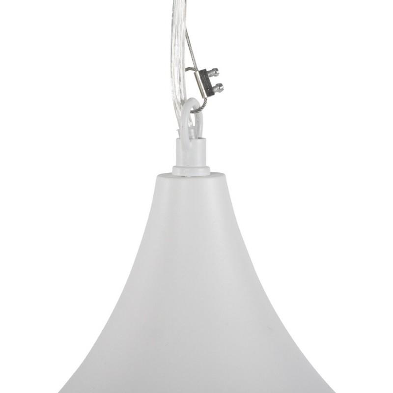 Lampe à suspension design PAON en métal (blanc) - image 17176