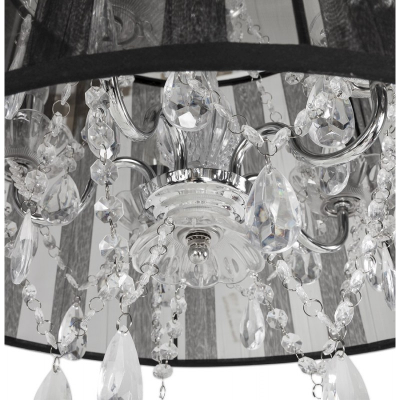 ALOUETTE (black) fabric Lampshade hanging lamp - image 17186