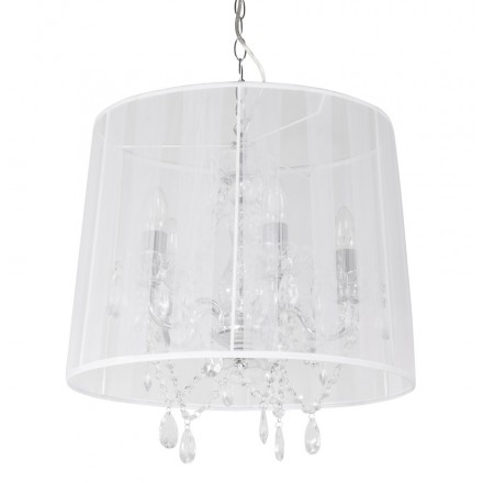 Design pendant ALOUETTE metal lamp (white)