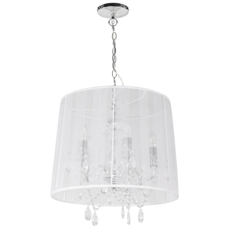 Lampe à suspension design ALOUETTE en tissu (blanc) - image 17192