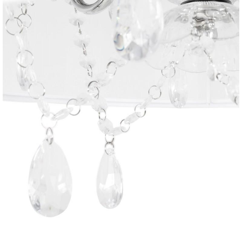 Design pendant alouette metal lamp white - Suspension metal blanc ...