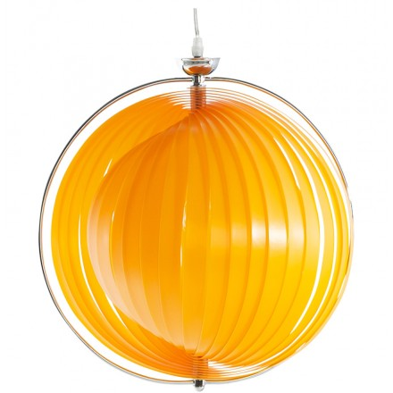 Lamp design suspension MOINEAU metal (orange)
