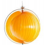 Lampe à suspension design MOINEAU en métal (orange)