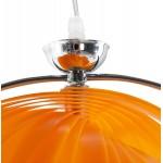 Lampe à suspension design MOINEAU en métal (orange)