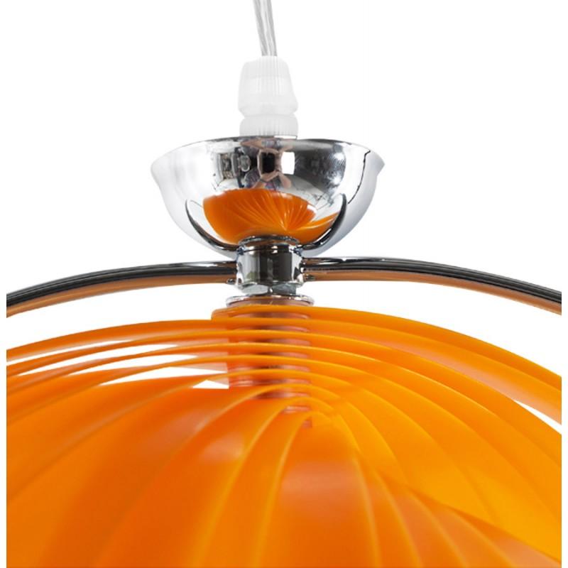 Lampe à suspension design MOINEAU en métal (orange) - image 17212