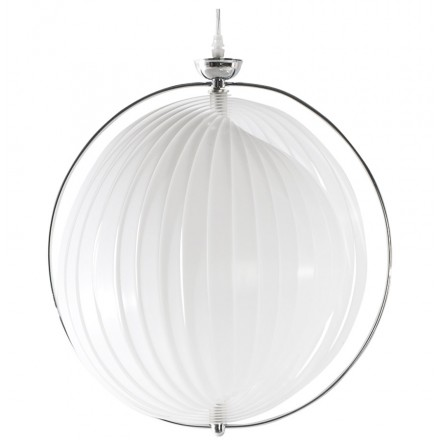 Design pendant MOINEAU metal lamp (white)