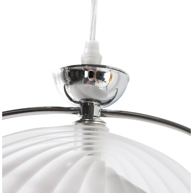 Lampe à suspension design MOINEAU en métal (blanc) - image 17220