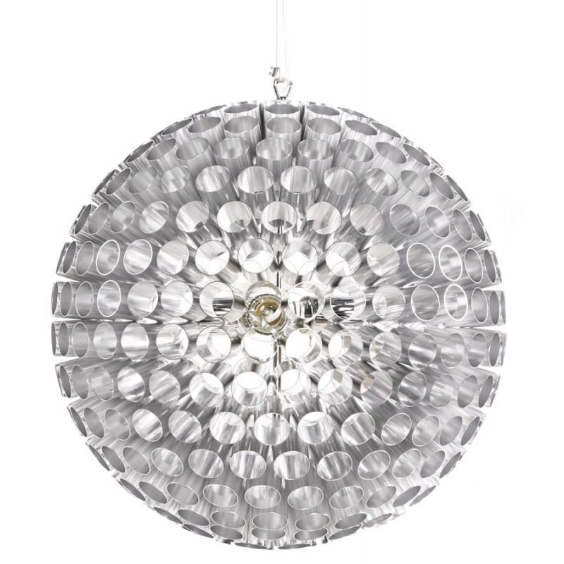 Lampe à suspension design APALIS en métal (argent)
