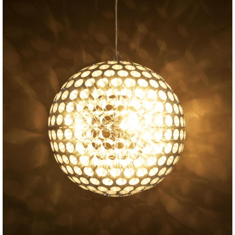 Lampe à suspension design APALIS en métal (argent) - image 17235
