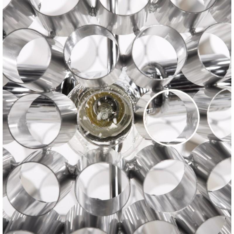 Lampe à suspension design APALIS en métal (argent) - image 17237