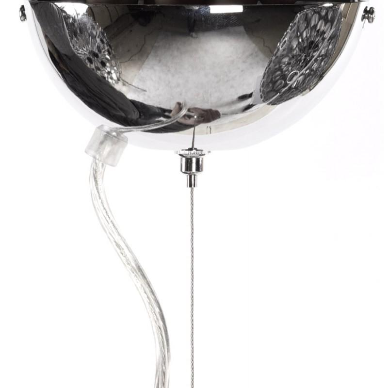 Lampe à suspension design APALIS en métal (argent) - image 17239