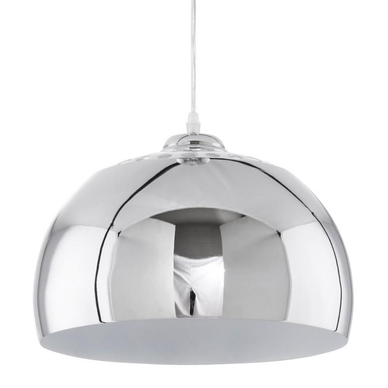 Lampe à suspension design ARRENGA en métal (chromé)