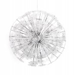Lampada a sospensione design in metallo cromato ANABE