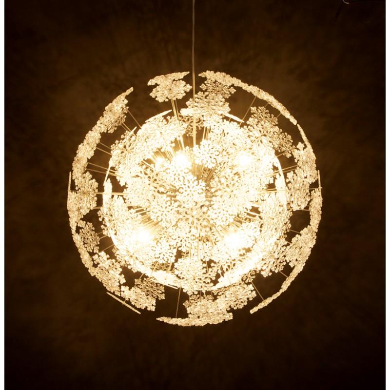 Lampe à suspension design ANABE en métal (chromé) - image 17273